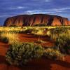 Закаты и рассветы на скале Улуру в Австралии
