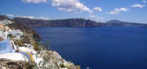 Остров Санторин в Греции