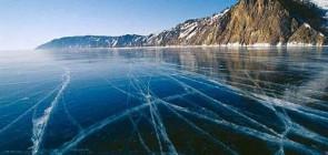 Странные кольца на озере Байкал