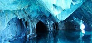 Мраморные пещеры в Чили