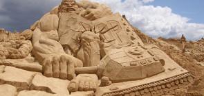 Песчаные скульптуры в Тоттори