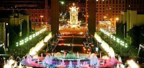Монжуик — поющий фонтан в Барселоне