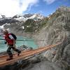 Висячий мост Трифт в Швейцарии