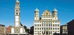 Город Аугсбург в Германии. История