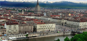 Город Турин в Италии
