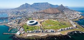 Город Кейптаун в Африке