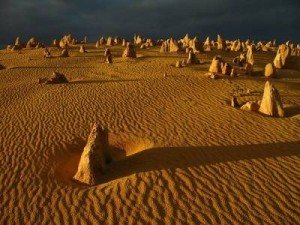 Пустынныое кладбище глыб