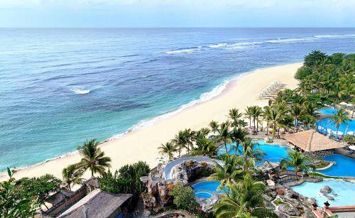 прекрасный пляж острова Бали