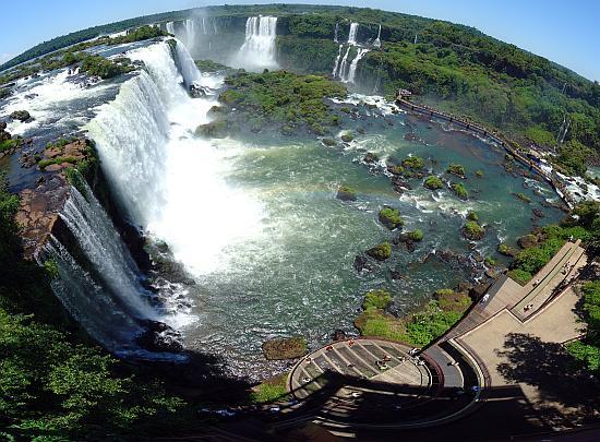 Водопад Игуасу вид сверху