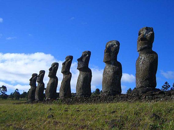 остров пасхи идолы