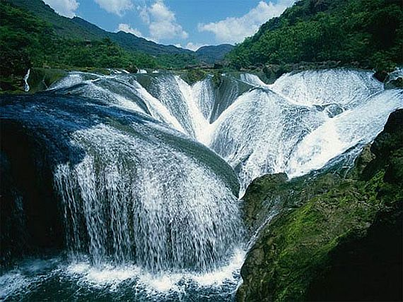 водопад жемчужина долина цзючжайгоу китай