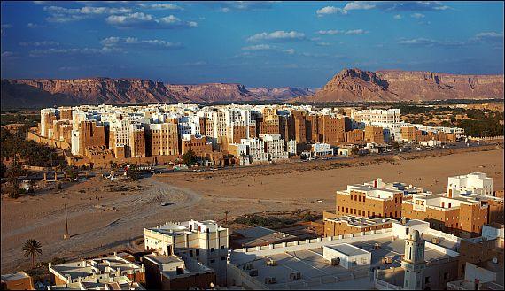 Шибам многоэтажки в пустыне