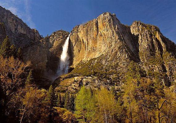 огненный водопад йосемити