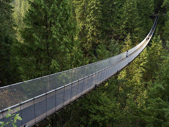 висячий мост капилано ванкувер канада