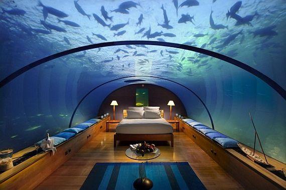 подводный ресторан на мальдивах фото