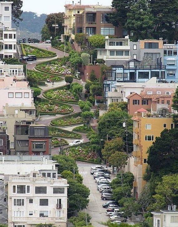 самая кривая в мире улица