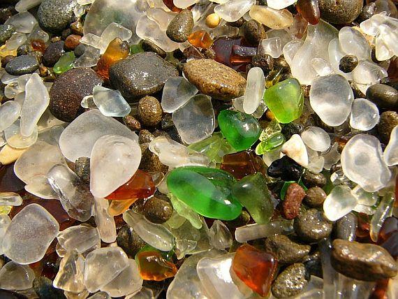стеклянный пляж фото