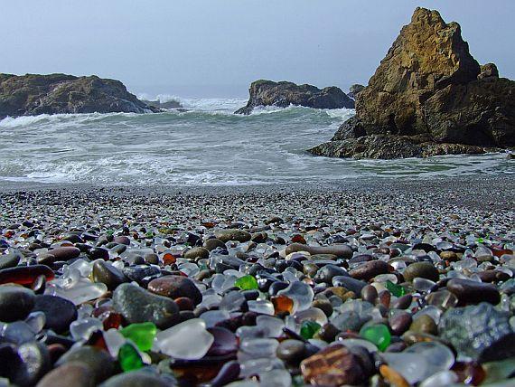 стеклянный пляж в сша