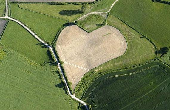 Луг в форме сердца в Триттау, Германия