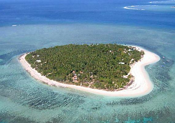 Остров Таваруа в виде сердца, Фиджи