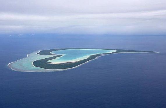 Остров Тупай в форме сердца