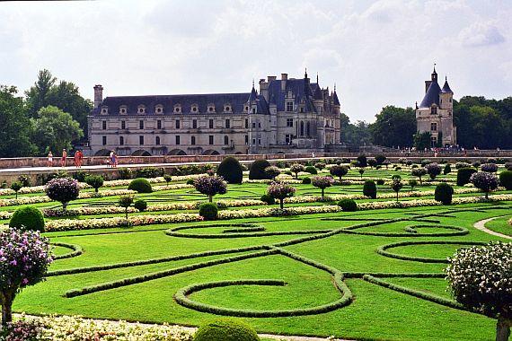 красивый сад замка