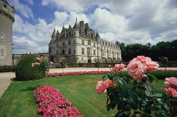сады у замка франции