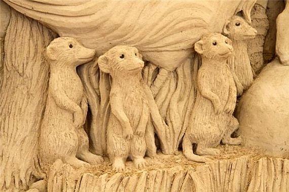 песчанные скульптуры в дюне Тоттори