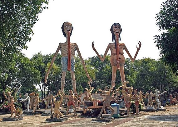 Храм ада и рая в Тайланде