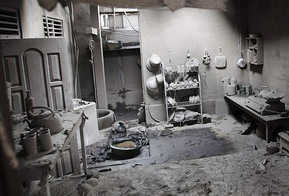 дом после извержения мерапи