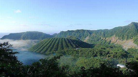 вулканический японский остров