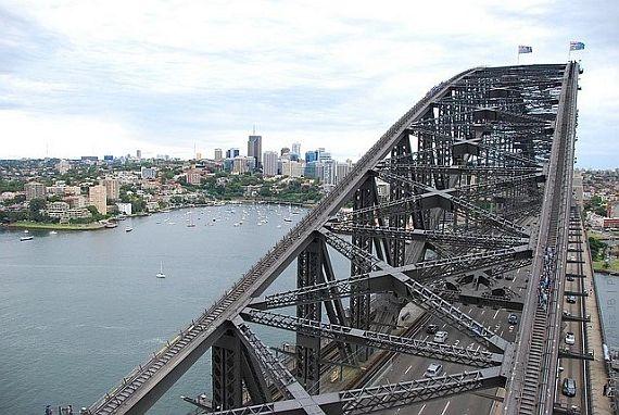 Харбор Бридж, поднятие на мост