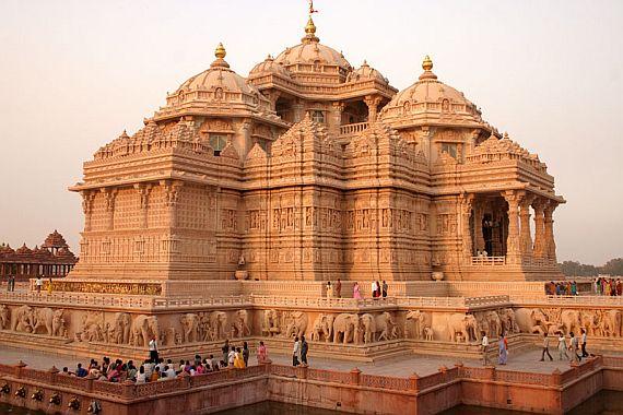 Храм акшардхам. Индия