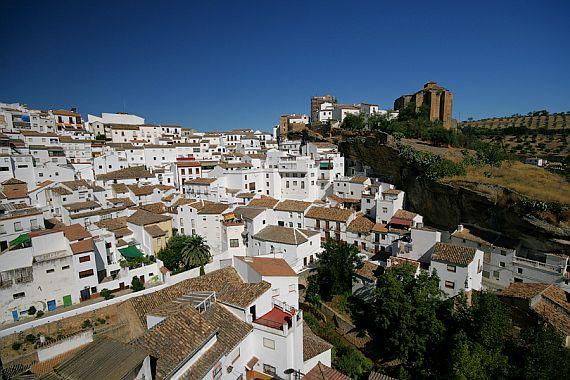 город в скале в Испании