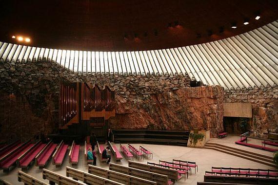 финляндия церковь в скале