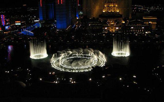 танцующий фонтан bellagio