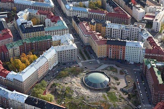 церковь в скале в хельсинки