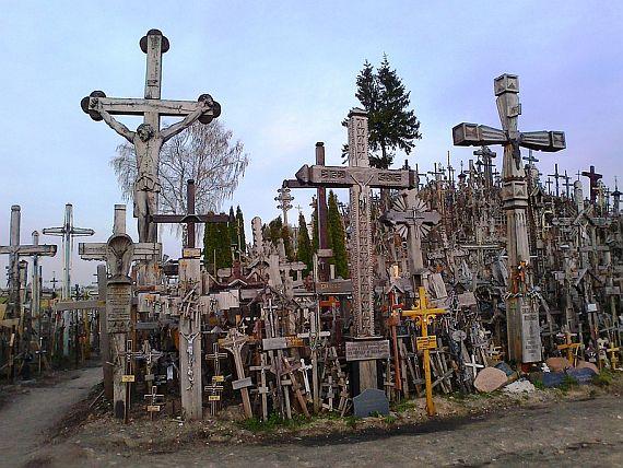 Кресты на горе в литве