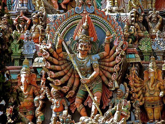 минакши, храм индии