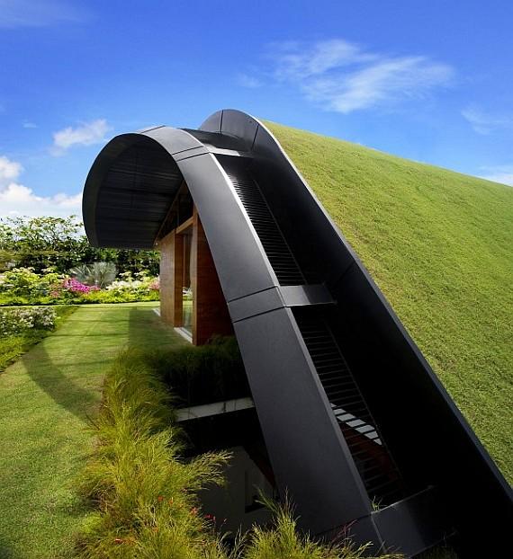 Крыша дома в Сингапуре
