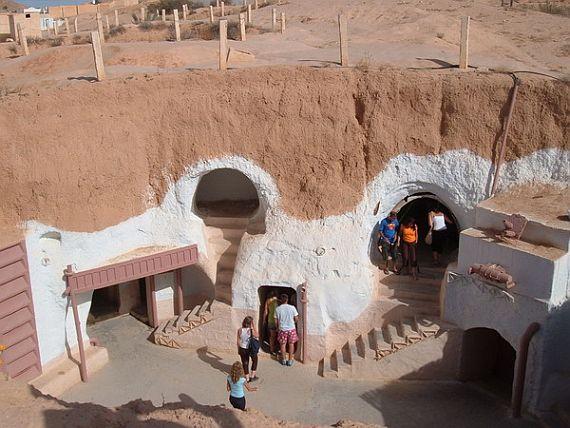 Матмата - дома в камне
