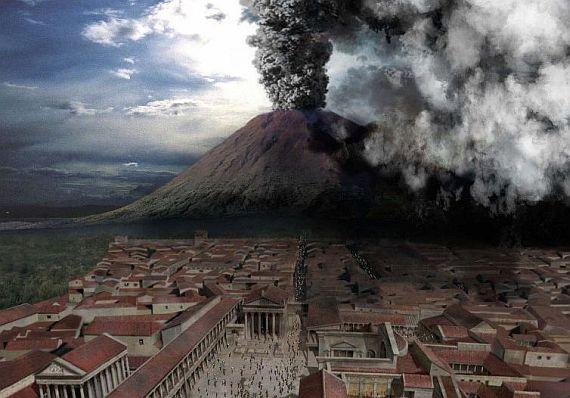 Помпей - древний город, уничтоженный вулканом