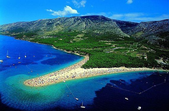 Золотой рог (Zlatni Rat) пляж в Хорватии