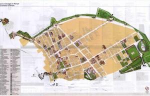 карта города Помпей