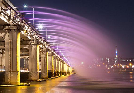 мост banpo в сеуле