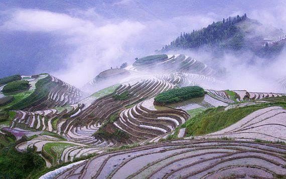 Рисовые террасы Юаньян