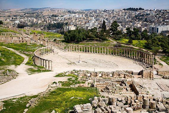 Город Джераш в Иордании