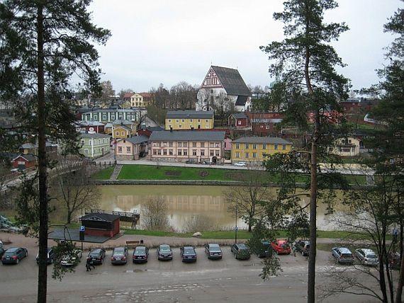 Город Порво в Финляндии