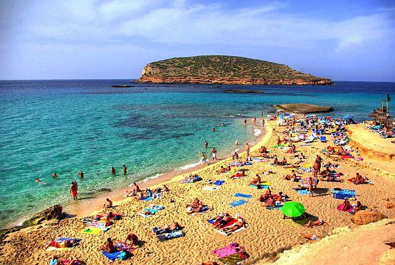 Ибица пляж