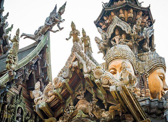 Храм Истины в Паттайе. Тайланд